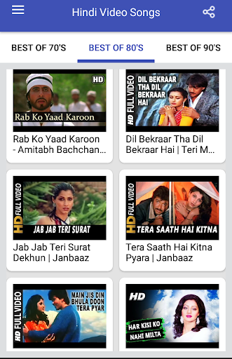 Hindi Video Songs : Best of 70s 80s 90s 1.0.5 screenshots 2