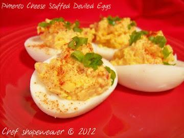 Pimento Cheese Stuffed Deviled Eggs Recipe