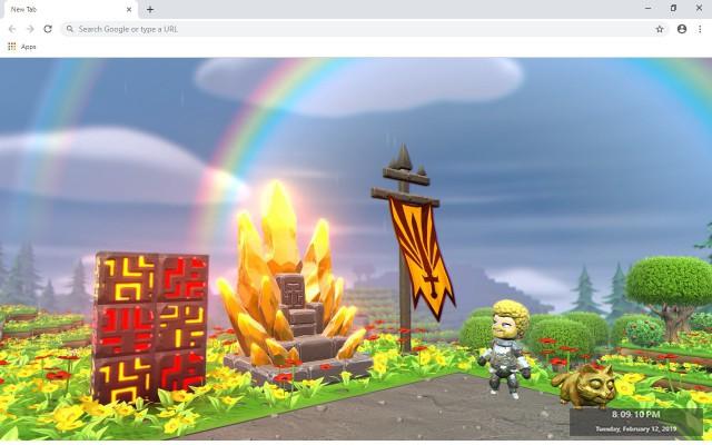 Portal Knights New Tab Theme