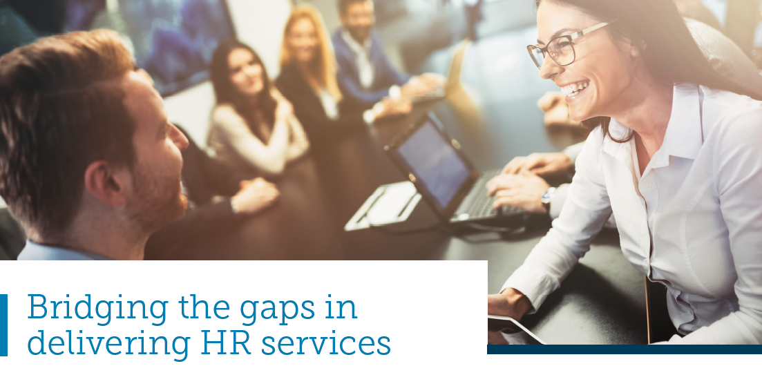 Bridging the gaps in delivering HR services. Source: ServiceNow