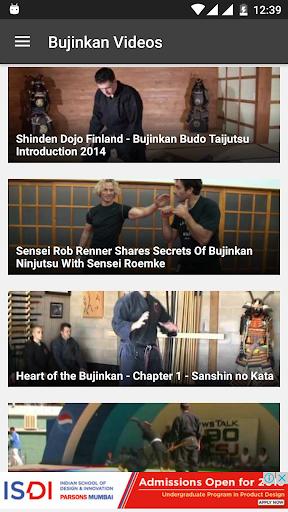 玩免費運動APP|下載Ninjutsu Bujinkan Videos app不用錢|硬是要APP
