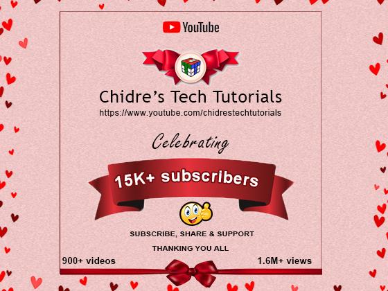 Chidre's Tech Tutorials : Explore best Animation, VFX