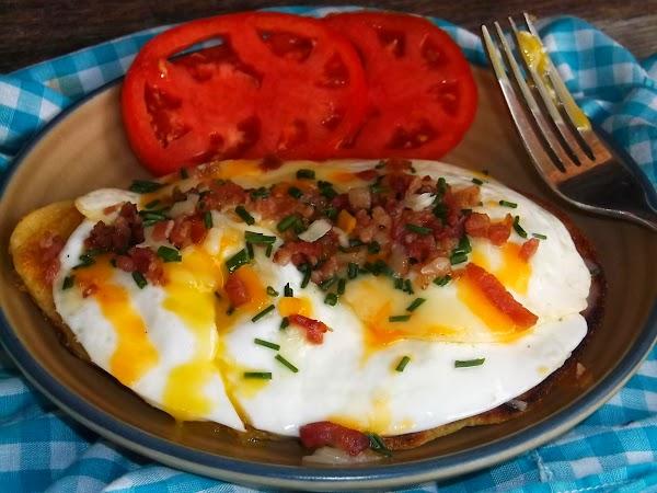 Bacon Egg & Cheese Corn Cake Stack Recipe