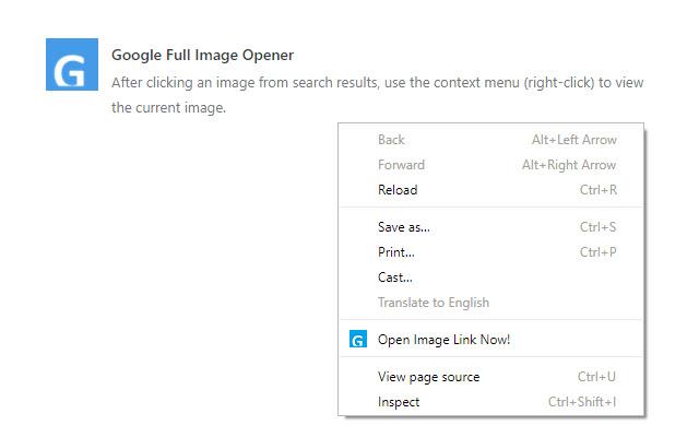 Google Full Image Opener