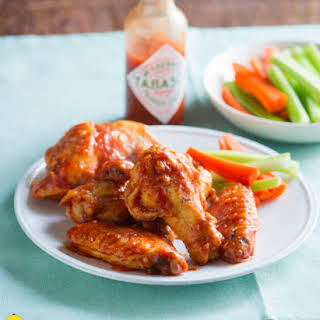 Healthy Tabasco Chicken Wings.