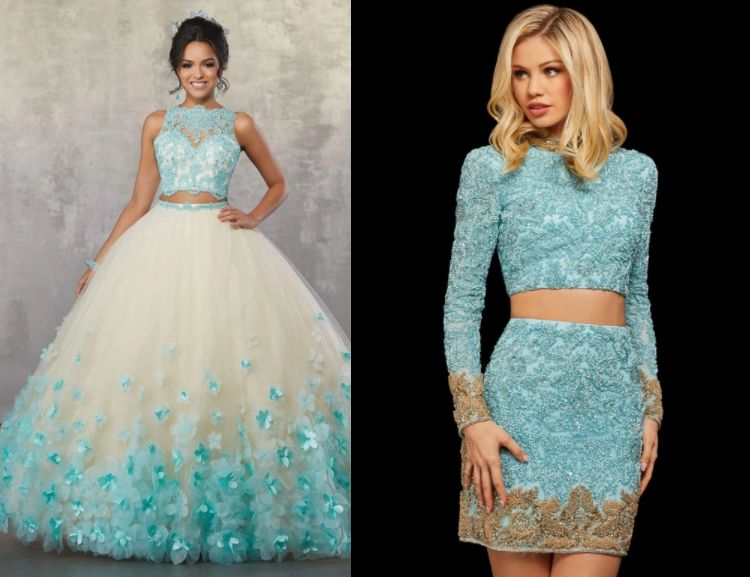 two piece homecoming dresses