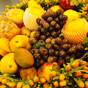 Assorted Fruits by Adam Ling - Food & Drink Fruits & Vegetables ( orange, fruit, grapes, kiwi, pwcfruit, star fruit, pineapple )