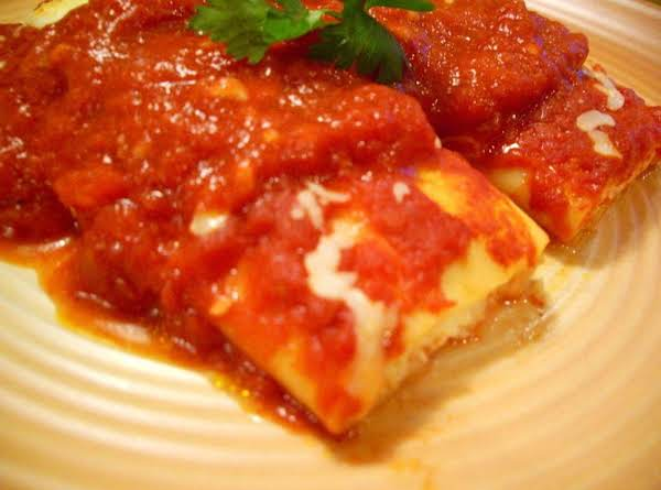 Homemade Manicotti!  Its Just To Easy And Beats The Supermarket Shells Hands Down!