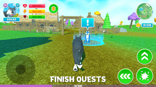 ud83dudc3a Wolf Simulator: Wild Animals 3D Family Game 1.9 screenshots 2