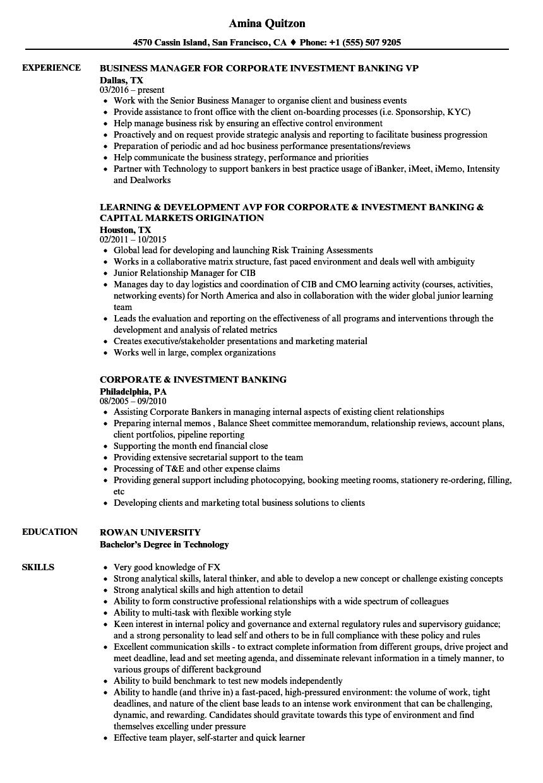 Skills investment resume