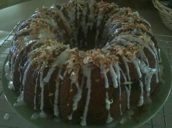 Coconut Streusel Spice Cake