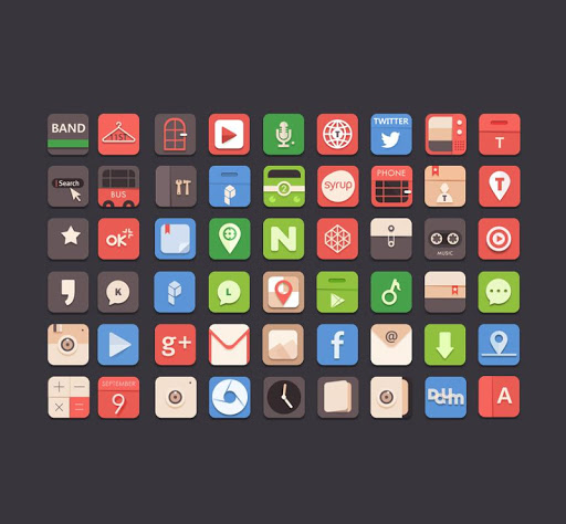 Colorful basic Icon Pack