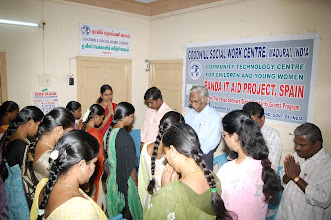 Photo: Certificate awarding event for the participants on completion of their digistal training at the GOODWILL Centre