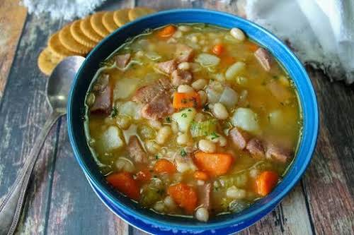 "Crazy Old Bag Lady's Bean & Ham Soup""This very easy soup recipe..."