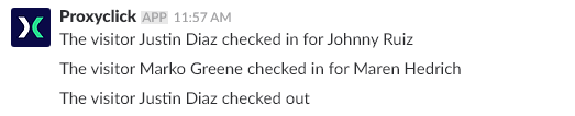 new public Slack channel for check-ins and check-outs
