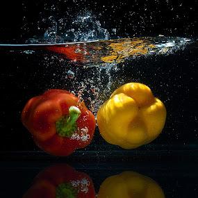 Capsicum Splash by Syahidee Omar - Food & Drink Fruits & Vegetables