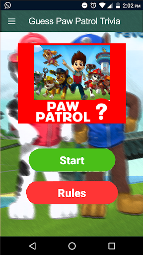 Guess Paw Patrol Heroes Trivia Quiz