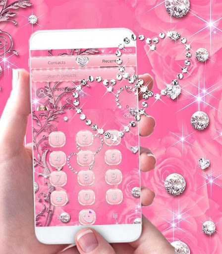 Pink Rose Diamond Theme Screenshot