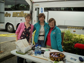 Photo: Catherine, Anne and Mary at registration for the Galtee Challenge/Crossing, Sunday June 29th, 2014