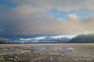 Photo: Eerie floating ice across Turnagain Arm