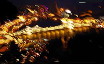 Photo: Most Łańcuchowy - zabawa ze światłem (52 gorejąco)