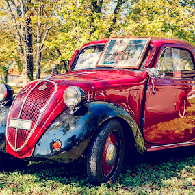 Old but not forgotten by Boris Podlipnik - Transportation Automobiles ( old, red, vintage, automobile, cars )
