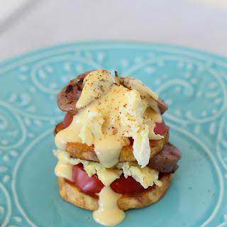 Sweet Potato Breakfast Stacks + Hollandaise