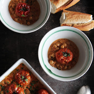 Roasted Tomatoes & Chickpea Curry