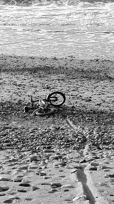 poso la bici e via di Marian