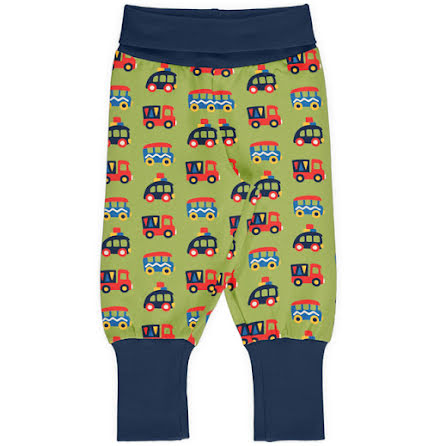 Maxomorra Rib Pants Colorful Cars