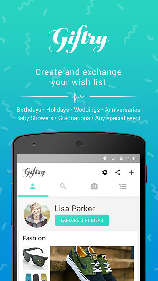 Giftry: Wish List Shopping App