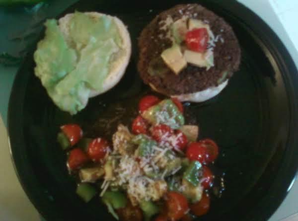 Kidney Bean Burgers With Fresh Vegetable Salad