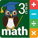 Three Second MATH for Kids Icon