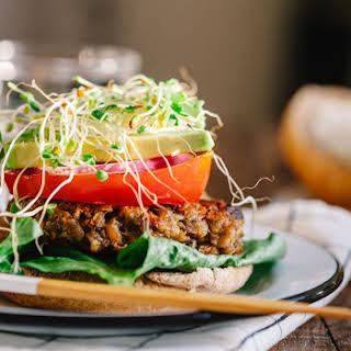 Mushroom Chickpea Veggie Burgers.
