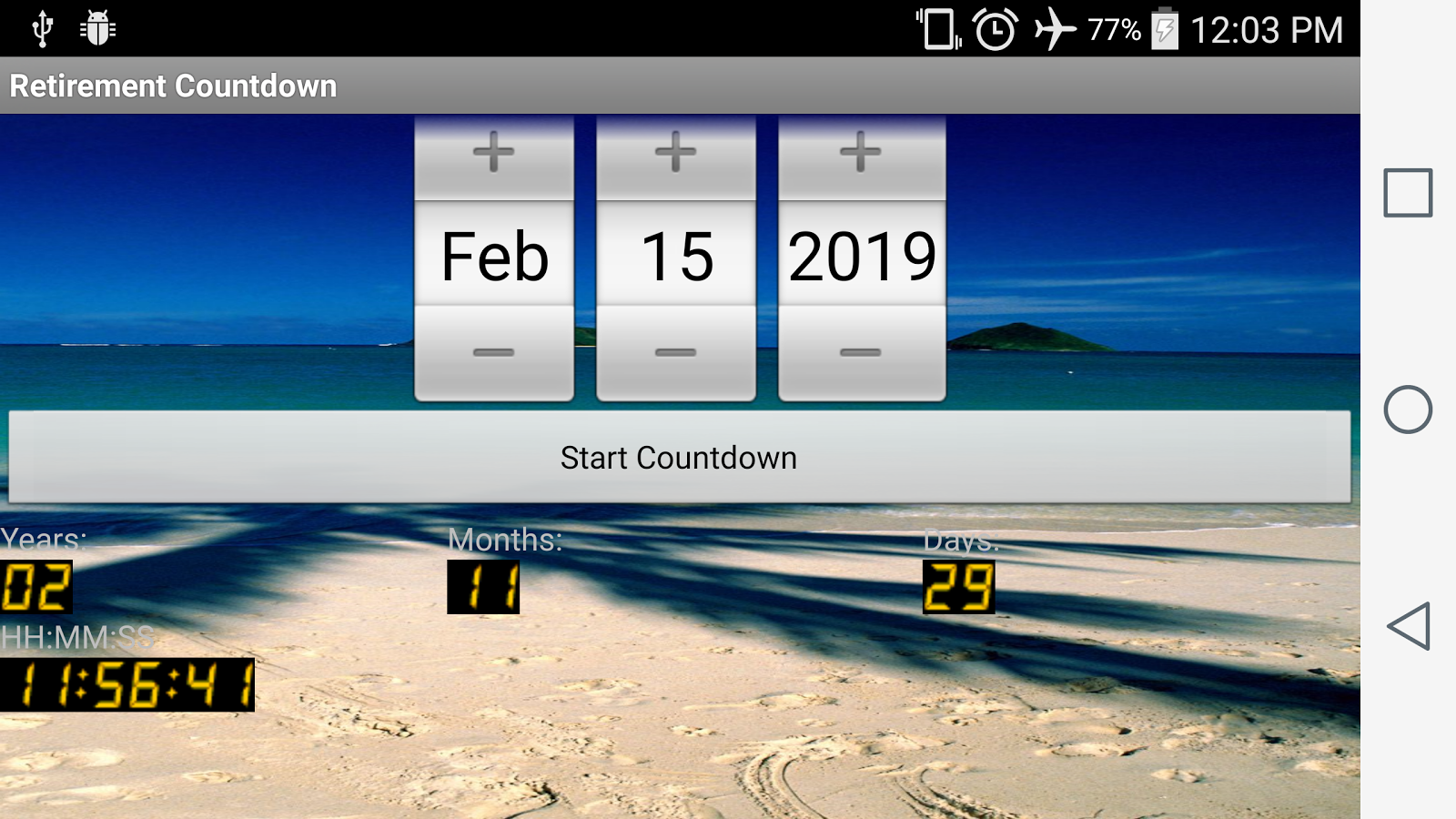 Calendar Countdown Wallpaper : Retirement countdown android apps on google play