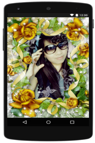 android Photo Frame Flower Screenshot 3