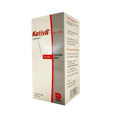 L-Carnitina Kativil 1g Solución Oral X 240ml