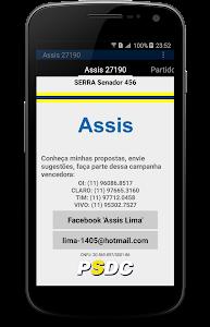 Assis 27190 Deputado Estadual screenshot 1