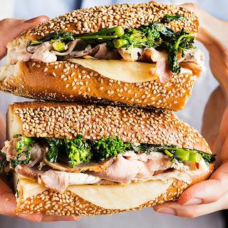 Roast Pork and Broccoli Rabe Sandwich.