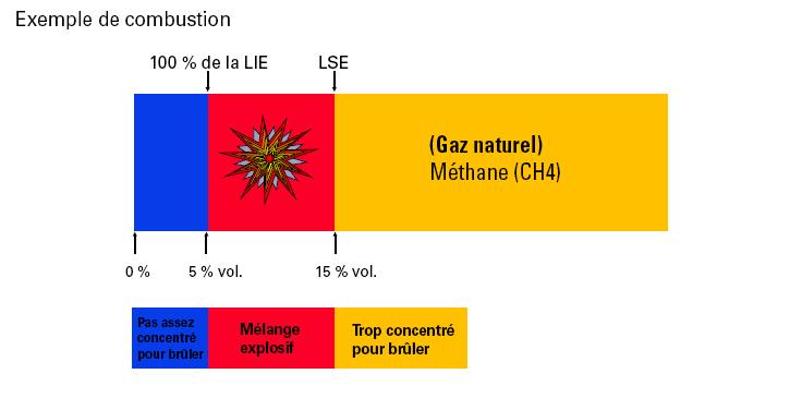 Exemple de combustion