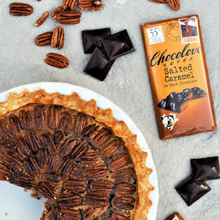 Salted Caramel Chocolate Pecan Pie.