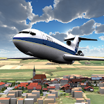 Airplane 3D flight simulator Icon