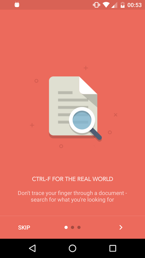 CTRL-F - Search the real world- screenshot