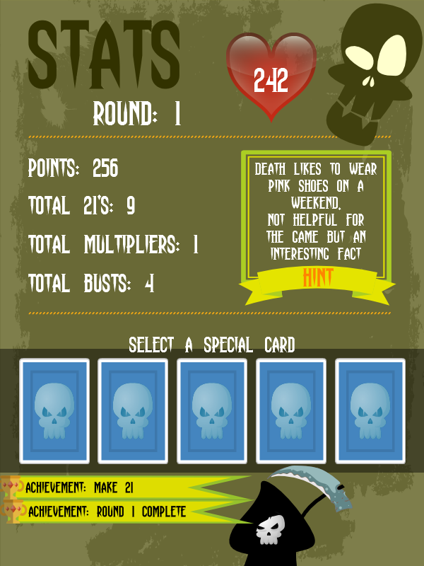 Dead Simple 21 - Card Game- screenshot