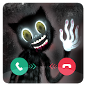 Call From Cartoon Cat Horror Chat And Video Call icon