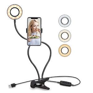 Selfie Ring Light i-JMB 12 W, diametru 9 cm
