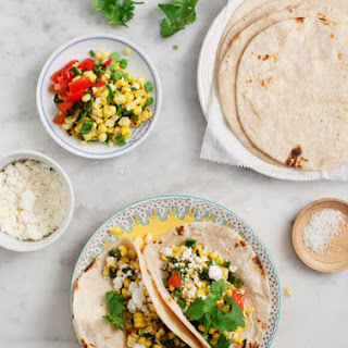 Grilled Corn & Poblano Tacos Recipe