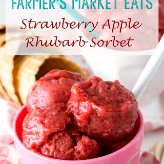 Strawberry Apple Rhubarb Sorbet
