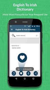 English to Irish Dictionary - náhled
