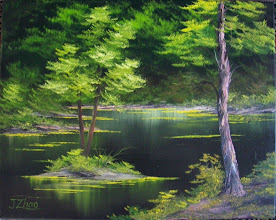 """Photo: 1309 Emerald Waters. Oil on canvas. Frame: no. 16"""" x 20"""" $199.00"""